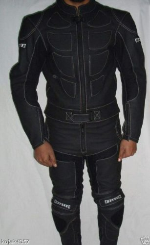Lederkombi Motorradbekleidung leather suits black XXL