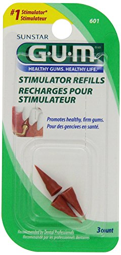 Gum Gum Stimulator Refills, 3 each (Pack of (Gum Stimulator Refills)