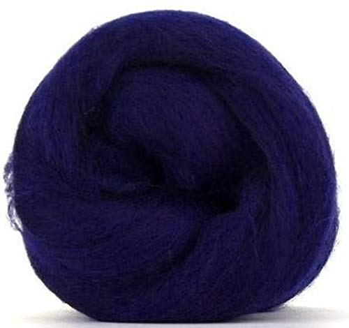 4 oz Paradise Fibers 64 Count Dyed Tanzanite (Blue) Merino Top Spinning Fiber Luxuriously Soft Wool Top Roving for Spinning with Spindle or Wheel, Felting, Blending and Weaving ()