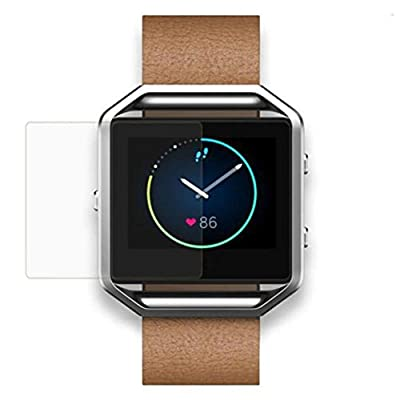 Fitbit Blaze Watch Screen Protector,Tevies® Ultra Smooth Tempered Glass Film Screen Protector For Fitbit Blaze Smart Watch,Anti-Scratch,UV Protection