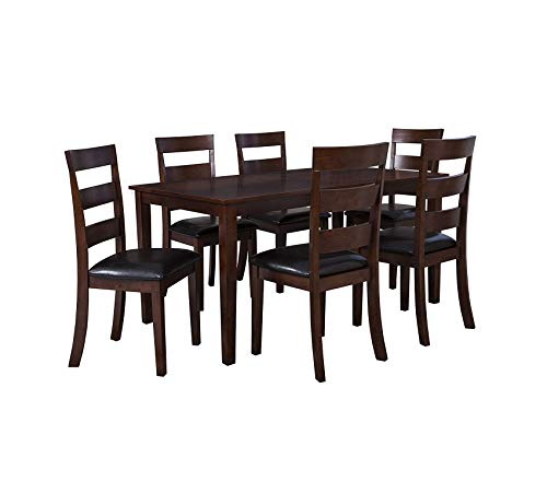 Deluxe Premium Collection Linville Dining Set Cherry Decor Comfy Living Furniture