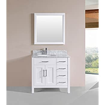36 inch bathroom vanity with top. Belvedere Designs T9150A Solid Bathroom Vanity with Marble Top  36 Oak White Simpli Home Winston Bath Quartz