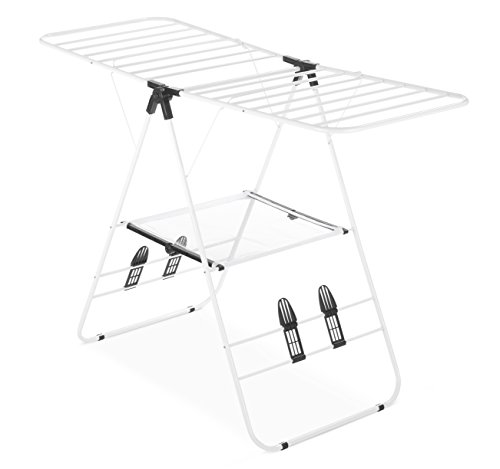 Whitmor Gullwing Drying Rack Rust-Resistant White