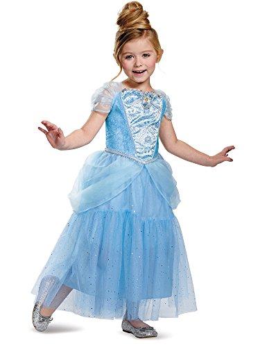 Disguise Cinderella Deluxe Disney Princess Cinderella Costume, Small/4-6X