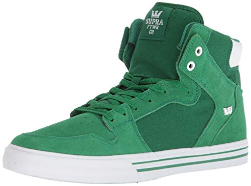 Supra Vaider Skate Shoe, Green/White, 9.5 Regular US