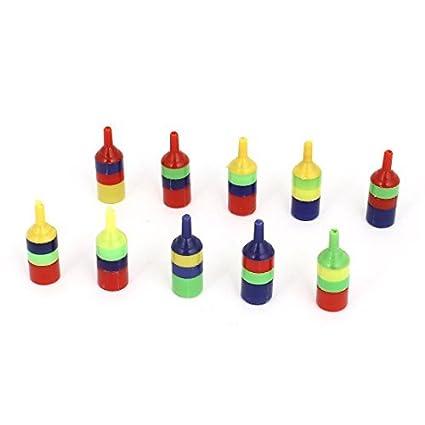 eDealMax Tubo 10pcs Aire Multicolor a Rayas de plástico Difusor Difusor Para acuario