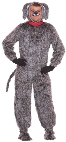 Shaggy Dog Costumes - Forum Deluxe Plush Dog Costume, Gray,