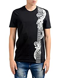 "<span class=""a-offscreen"">[Sponsored]</span>Collection Men's Men's Black Graphic Short Sleeve T-Shirt US M IT 50;"