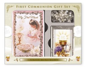 Image Unavailable. Image not available for. Color: Girls First Holy Communion Gift ...