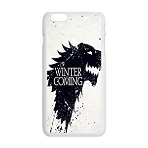 Happy Winter Coming Fashion Comstom Plastic case cover For Iphone 6 Plus