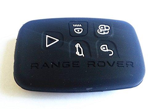 Protecting Bag Silicone key Case Holder Cover For RANGE ROVER LAND ROVER EVOQUE SPORT CAR SMART KEY (black)