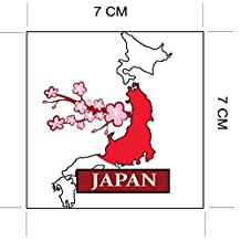 JAPAN National Flag and Map Sticker for customization of favorite items such as suitcases