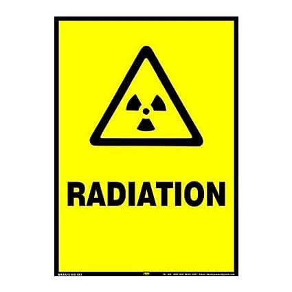 Mr. Safe   Radiation Sign Eco Vinyl Sticker A3  11.7 inch X 16.5 inch  Safety Signs   Signals
