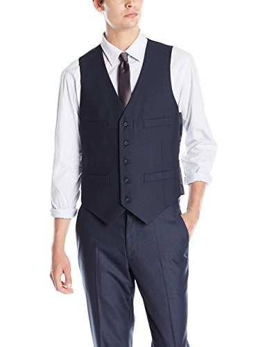Kenneth Cole REACTION Men's Slim Fit Suit Separate (Blazer, Pant, and Vest), Blue, Large by Kenneth Cole REACTION