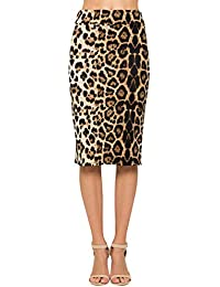 Women's Comfort Stretch Pencil Midi Skirt