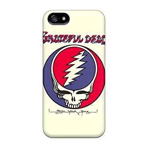 Shock Absorption Hard Cell-phone Case For Iphone 5/5s With Provide Private Custom Lifelike Grateful Dead Pattern AnnaDubois