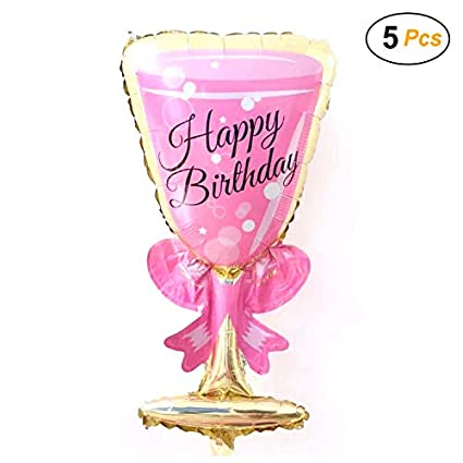 Amazon Simple Polymer 36 Happy Birthday Wine Glasses Balloons