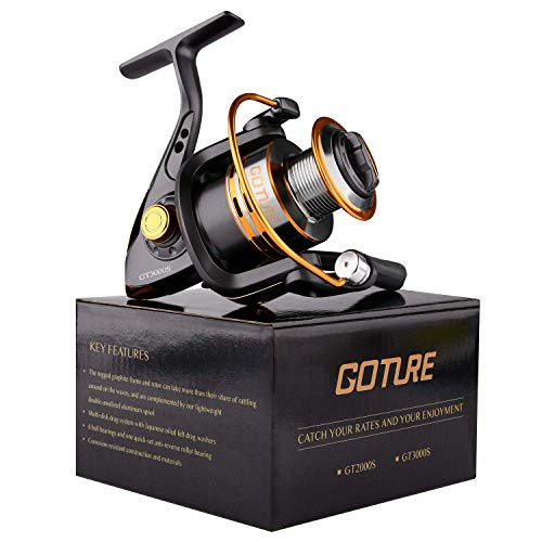 Goture Spinning Fishing Reel - Metal Spool 6+1BB Freshwater...