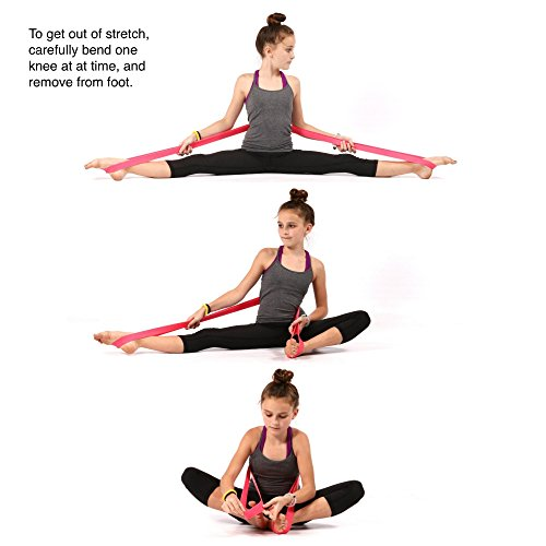 PREMIUM EXERCISE PS Athletic Ballet Stretch Band For Dance, Gymnastics, Cheerleading, Pilates. Improves FLEXIBILITY, STRETCHING and Helps PREVENT INJURY.!