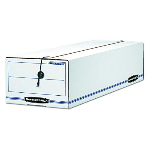 Bankers Box Liberty Check and Form Boxes, Records Forms, 7'' x 8.75'' x 23.75'', 12 Pack (00018) by Bankers Box