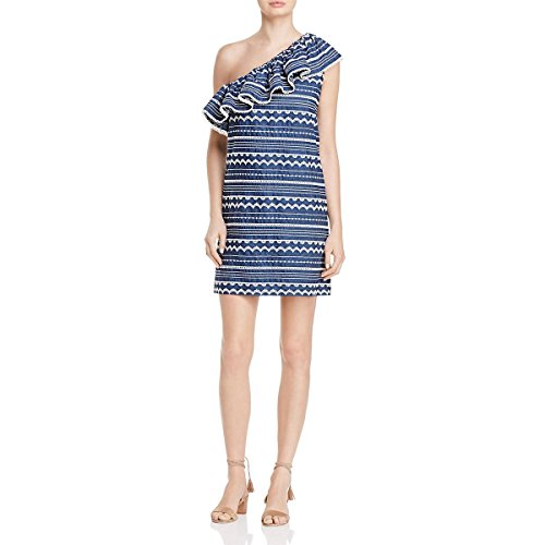 Parker Womens Katrina Embroidered Sheath Casual Dress Navy M
