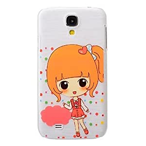 QYF Cute Little Girl Pattern PC Brushed Hard Case for Samsung Galaxy S4 I9500