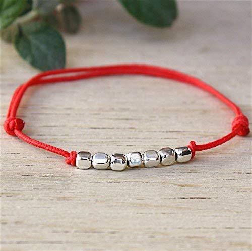 Au Cordon Argent 925 Bracelet Carrées Choix Perles Massif 3LRj45Aq