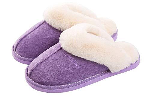 Pantofole Morbido Inverno Yooeen Uomo Peluche Caldo Da Casa Donna Viola Scamosciate erdCBWoQx