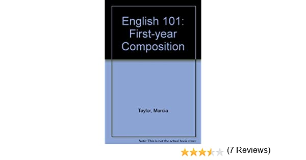 Amazon english 101 first year composition 9780757533235 amazon english 101 first year composition 9780757533235 taylor brockman books fandeluxe Images
