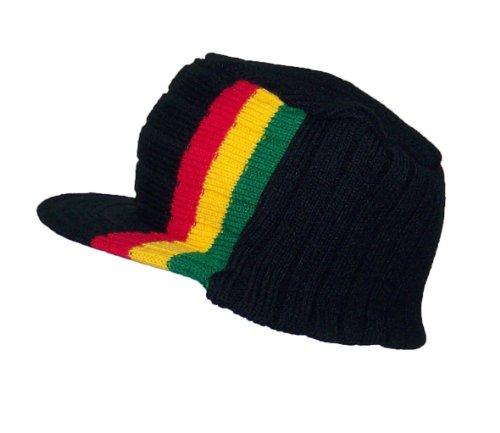 bb4ecf53c53 JFH Group Rasta Commando Winter Skull Cap Hat (One Size)-Black