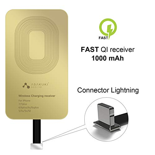 ASAKUKI Wireless Charging Receiver, Ultra-Thin Copper Coil Patch with Overvoltage Protection for QI Wireless Charging Adapter-Fast&Smart Microchip Technology