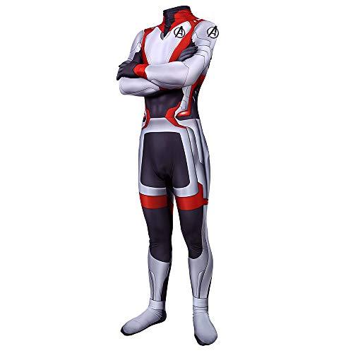 Halloween Superhero Lycra Spandex Zentai Quantum Realm Cosplay Costumes Suits for Men Kids (Men-XL(Height 67-69 inches))
