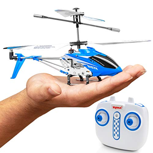 Syma Wind Hawk Remote Control Helicopter - Indoor RC Helicopter for Adults, Flying Toys for Kids w/ Altitude Hold (Blue) (Adult Remote Control Toys)