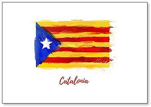 Imán para nevera con diseño de bandera de Cataluña: Amazon.es: Hogar