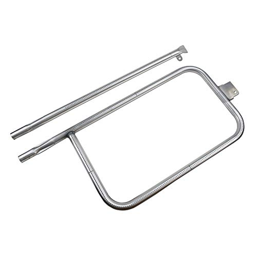 (Uniflasy Stainless Steel Grill Burner Tube Repair Kit Replacement Parts for Weber Q300, Q320, Q3200, 404341, 57060001, 586002, 65032 Gas Grill Accessories)