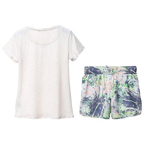da dei signora domestico vestito del Bianca estate dimensioni della pigiami manicotto di Bianca S Il servizio Colore dolce 5Bwqt5n