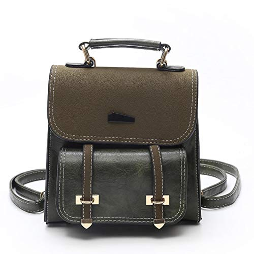 retro leather Women's Green backpack mini stitching PU 60dqKqzwT4