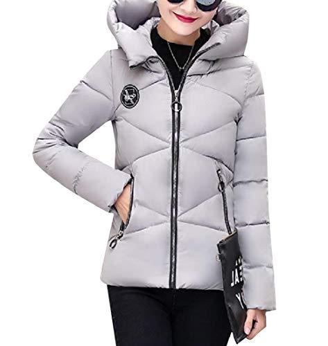 Jacket Grey XINHEO Thickened Women Outdoor Coat Down Classics Hoode Mini Slim Hvp1qnpO