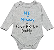G-Amber Baby Boys Girls Romper Bodysuit Infant Funny Letter Long Sleeves Jumpsuit Outfit 0-18Months