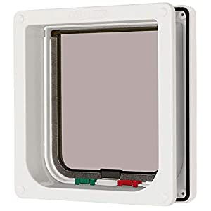 Ani Mate Cat Mate 4 Way Locking Cat Flap with Door Liner, White 23
