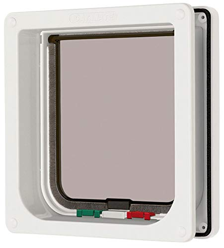 (Cat Mate 4 Way Locking Cat Flap with Door Liner White)
