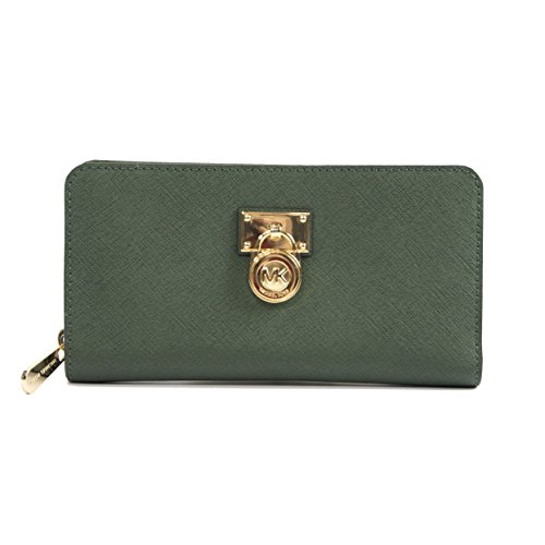 Michael Kors Moss Saffiano Leather Hamilton Travel Wallet by Michael Kors