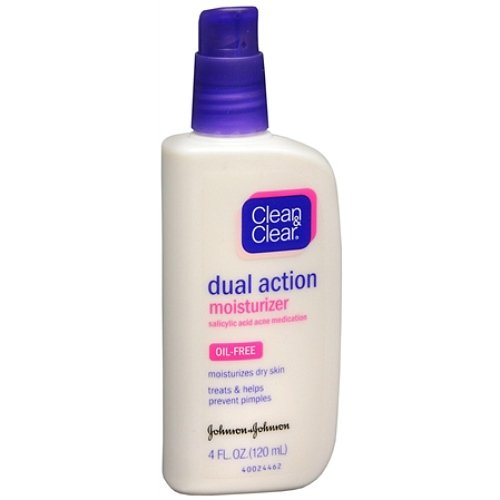 (Clean & Clear Oil-Free Dual Action Moisturizer 4 fl oz (120)