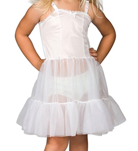 L C Boutique Girls Full Slip with Sweetheart Neckline and Adjustable Straps in Sizes 2T to ()