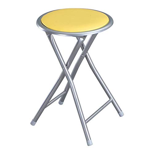 - MCLY Shower Seats, Yellow PU Leather Stool Portable Folding Round Shower Stool (2 Pack) / Elderly/Disabled/Pregnant Women/Home Simple Stool
