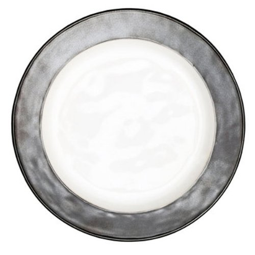 Emerson Collection By Juliska - White/Pewter - Dinner Plate 11''W (Set of 4)