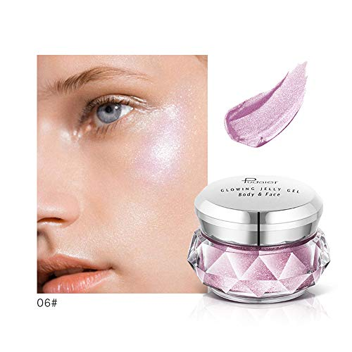 Jonerytime8 Colors Jelly Gel Highlighter Make Up Concealer Shimmer Face Glow Eyeshadow Highlighter Cream