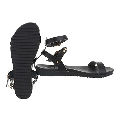Ital-Design - Tira de tobillo Mujer negro
