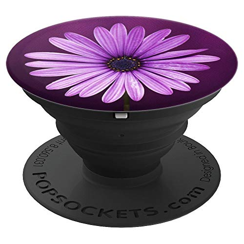 (Daisy Pop Socket Purple Floral Design Cute Flower for girls - PopSockets Grip and Stand for Phones and Tablets)