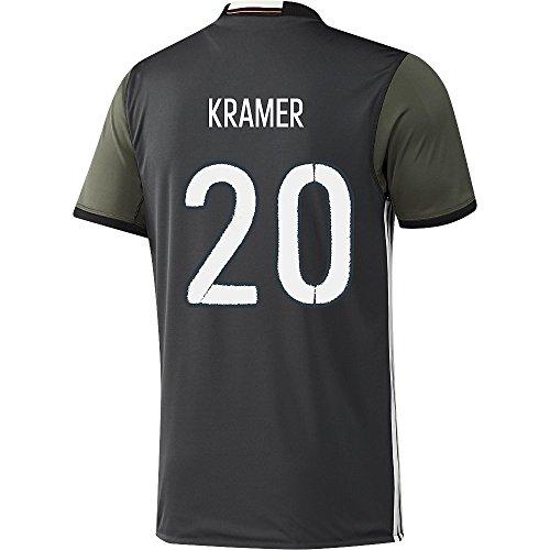 干し草子犬調整Adidas KRAMER #20 Germany Away Soccer Jersey Euro 2016(Authentic name and number of player)/サッカーユニフォーム ドイツ アウェイ用 クラマー 背番号20 Euro 2016